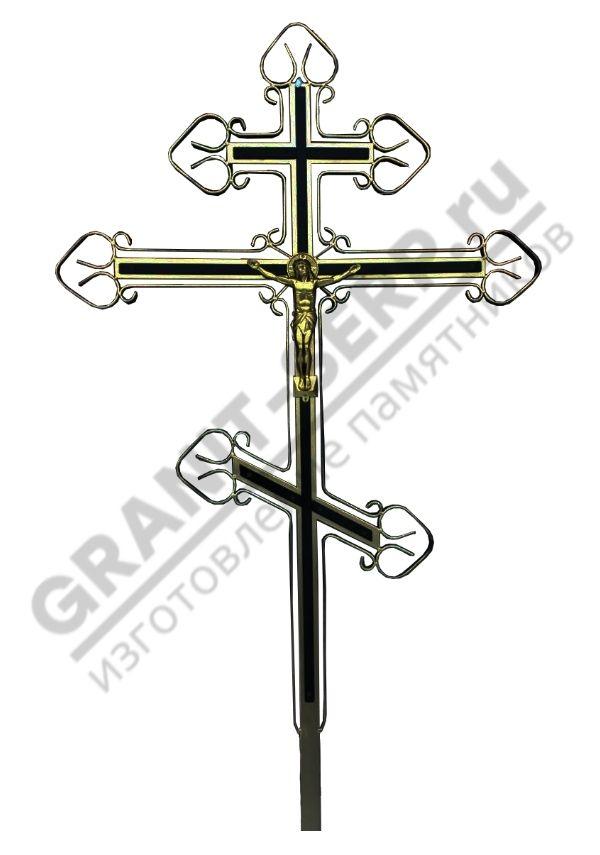 Крест метал. C2 (золотой)