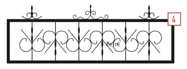 Ограда на могилу стальная № 4