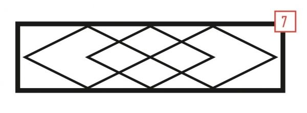 Ограда на могилу стальная № 7