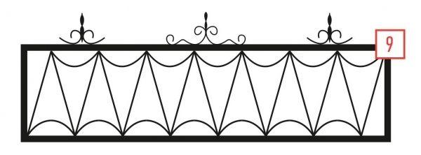 Ограда на могилу стальная № 9