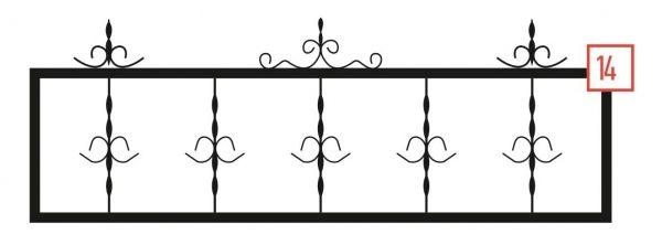 Ограда на могилу стальная № 14