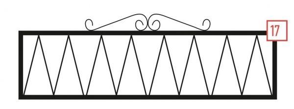 Ограда на могилу стальная № 17