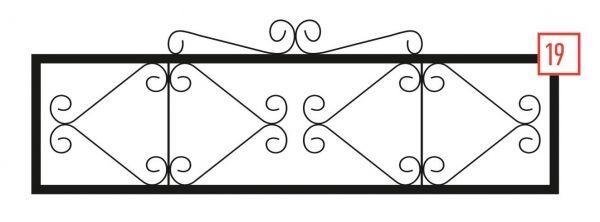 Ограда на могилу стальная № 19