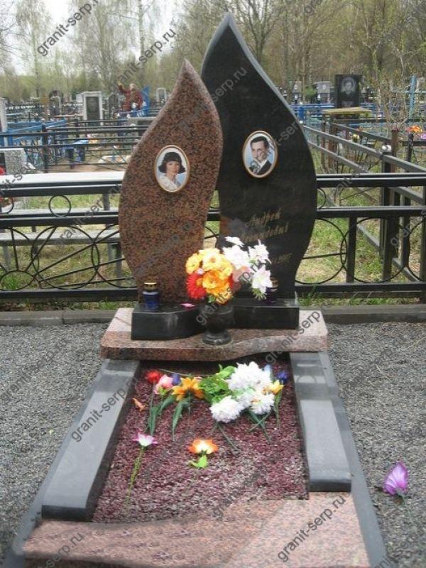 Памятник на могилу: Два пламени