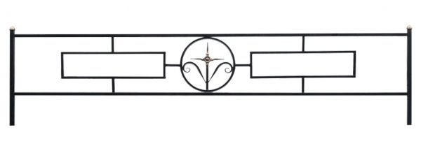 Ограда на могилу (Прямоугольник 15 с кольцом)