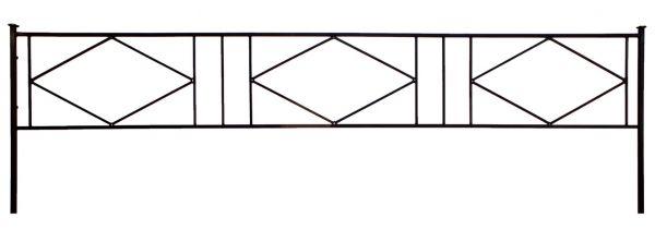 Ограда на могилу (Ромб 1)