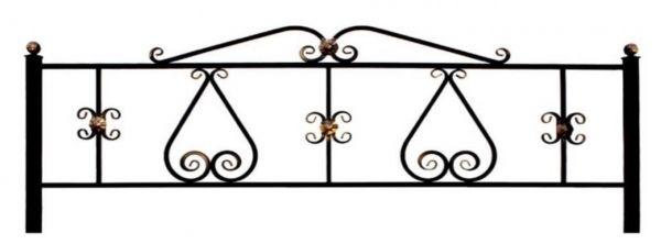 Ограда на могилу (Сердце)