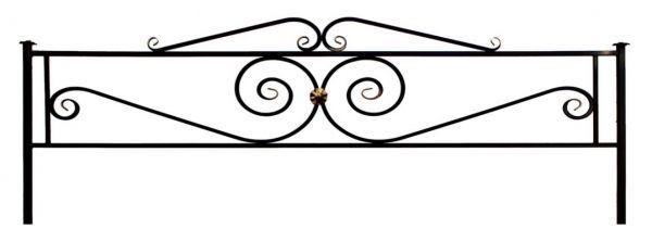 Ограда на могилу (Виктория с навершием)