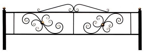 Ограда на могилу (Водолей)