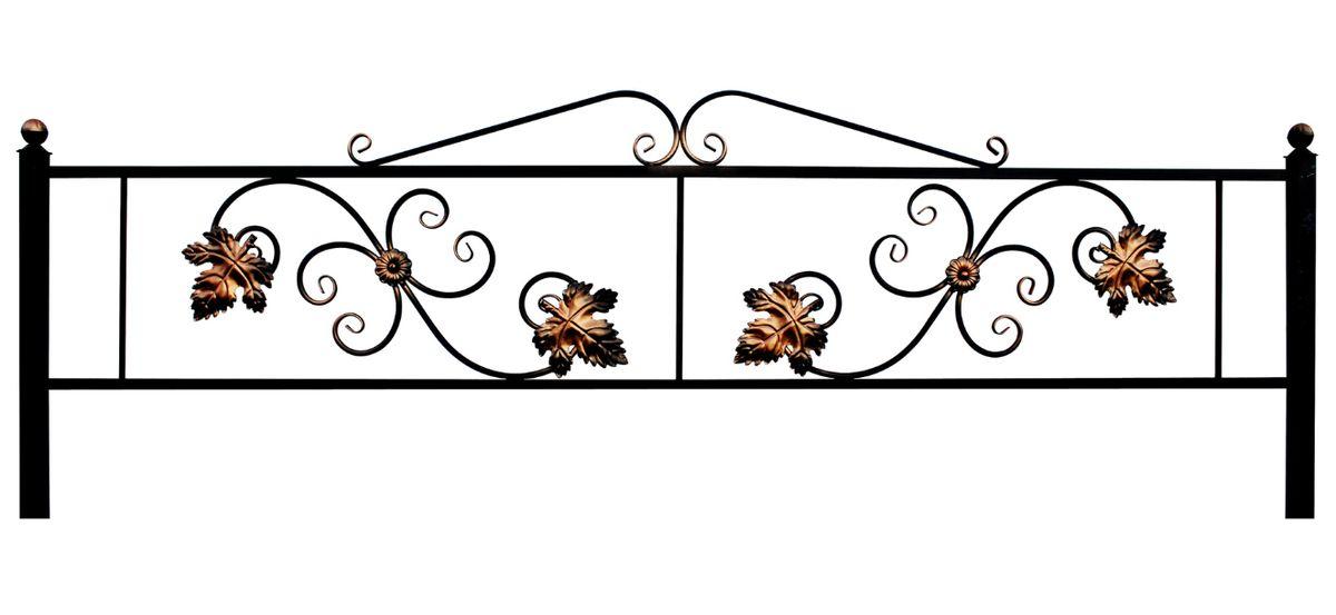 Ограда на могилу (Водолей с листом)